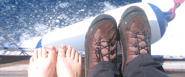 Boat ride, toes