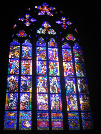 Cathedral - insurance co window, Prague