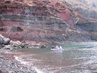 Desertas Islands, dinghy to shore