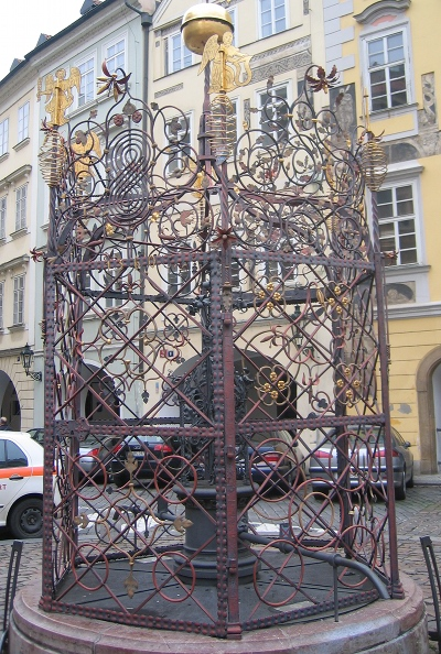 Prague witch cage wellcover