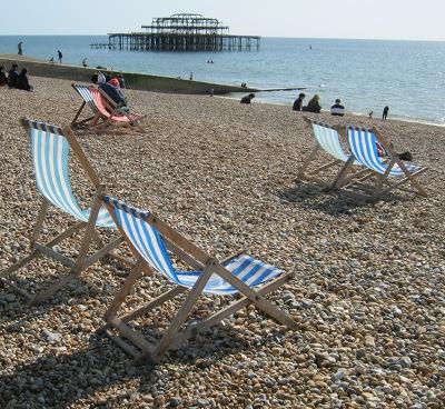 Deckchairs, Brighton beach cr Judy Darley