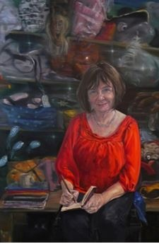 Julia Donaldson by Peter Monkman, 2013 © National Portrait Gallery, London; commissioned 2013 with the support of BP as part of the First Prize Winner's Commission, BP Portrait Award 2009