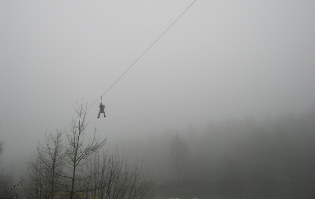 Zip wire and fog cr Judy Darley