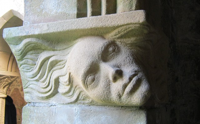 Iona Abbey carving cr Judy Darley