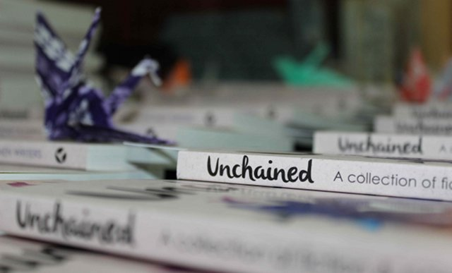 Unchained books spine