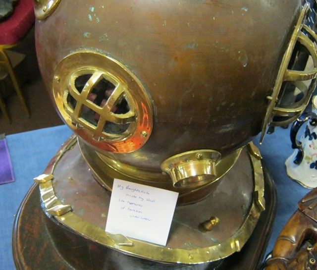 Diving helmet cr Judy Darley