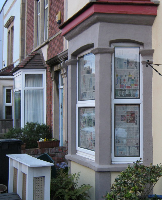Papered windows cr Judy Darley