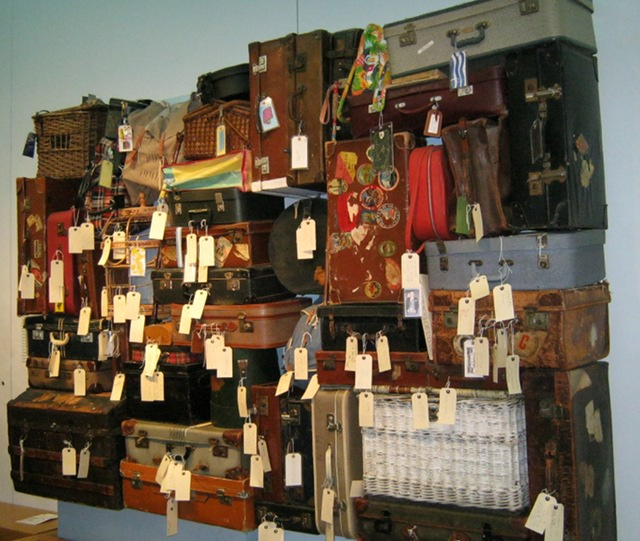 Suitcases at Manchester Art Gallery