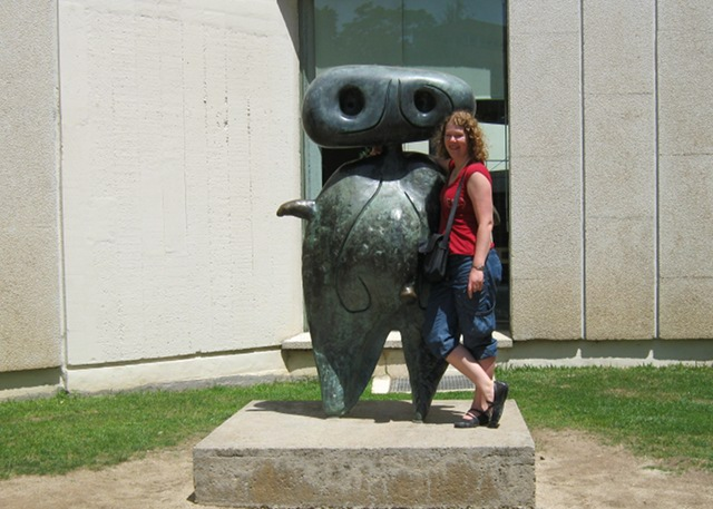 Personage at Fundacion Joan Miro cr Judy Darley