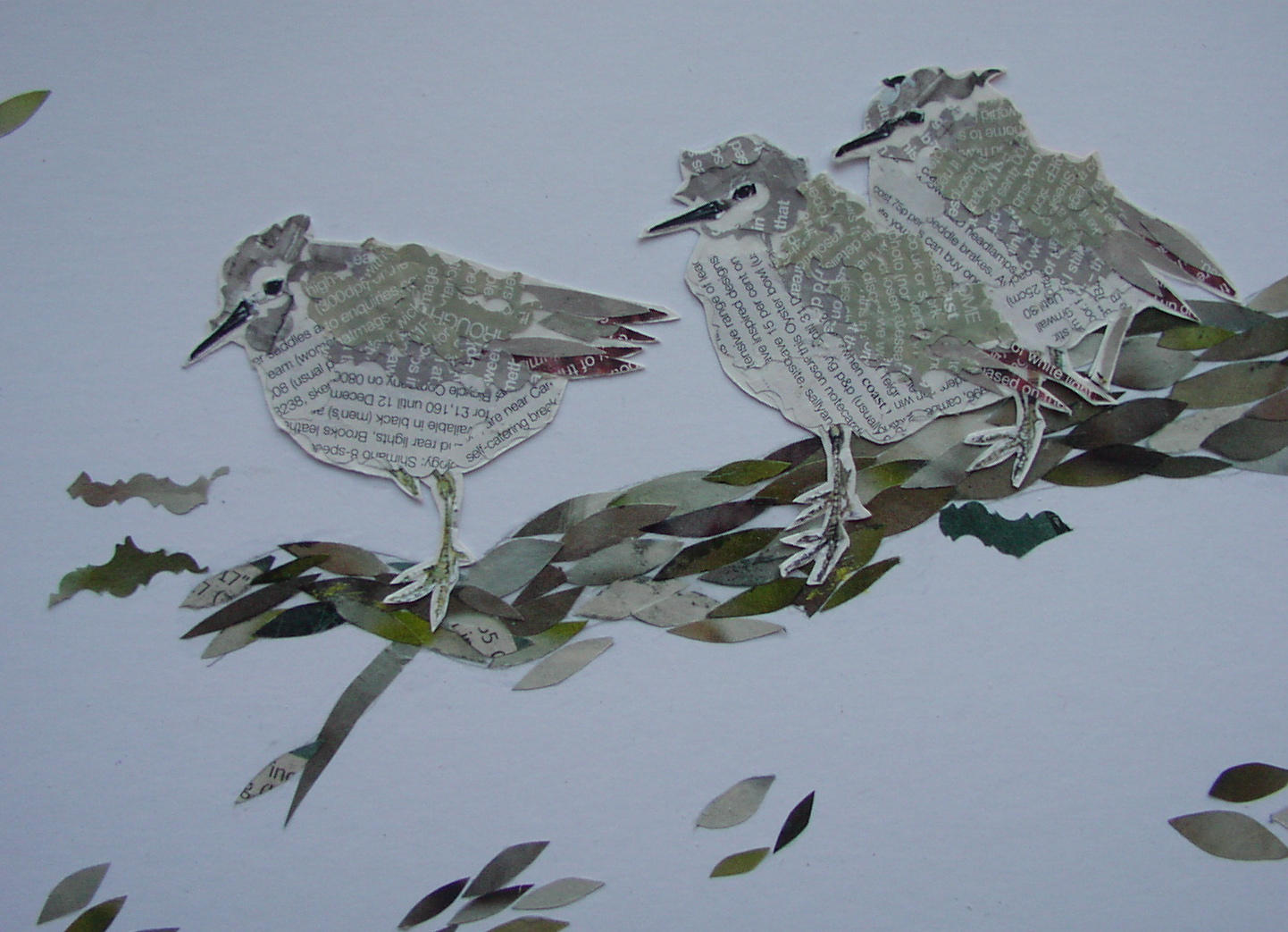 Sculpted paper birds cr Carolyn Stubbs