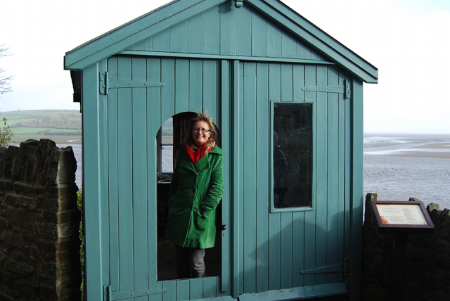 Emily Hinshelwood at writing shed