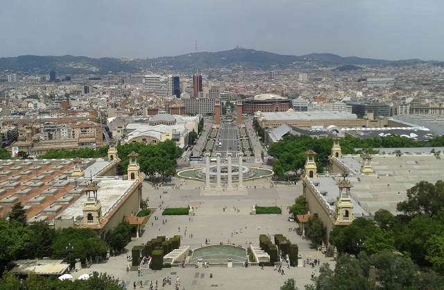 Museu Nacional d'Art de Catalunya views cr Beccy Downes