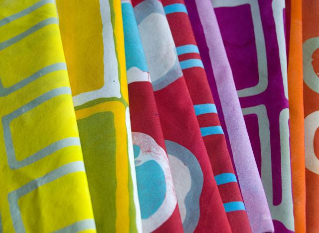 Variety of fabrics cr Malka Dubrawsky
