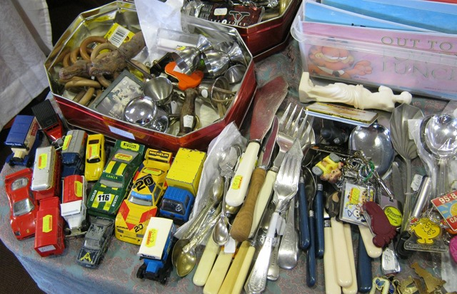 Vintage cutlery and cars
