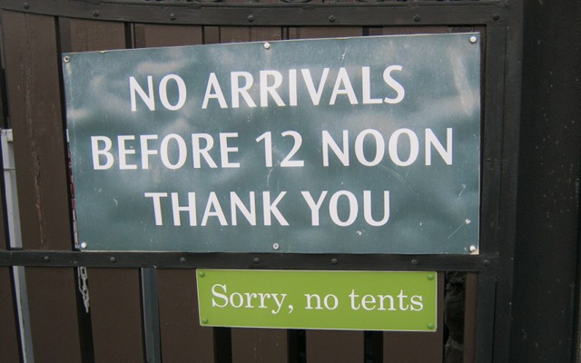 Sorry, no tents cr Judy Darley