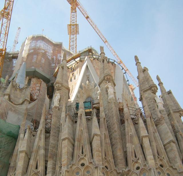 Sagrada Familia scaffolding cr Judy Darley