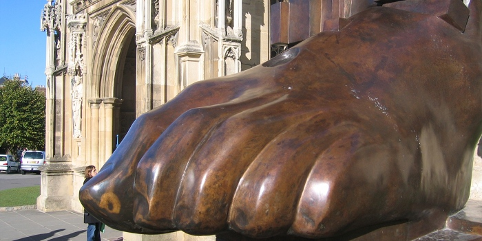 Giant foot, Gloucester Cathedral cr JDarley