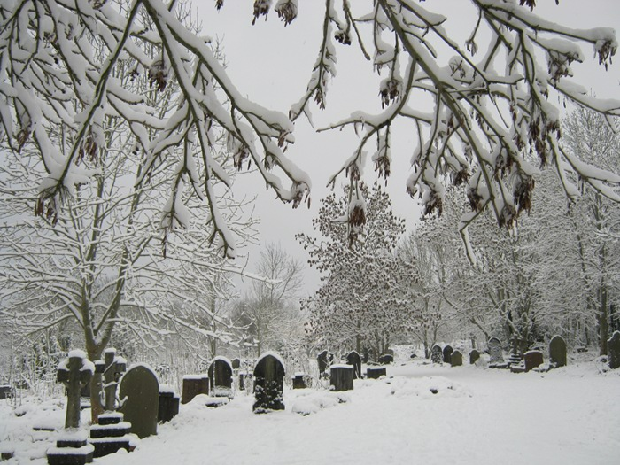 Arnos Vale Cemetery in the snow cr Judy Darley