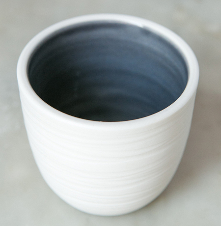 Espresso cup in ink blue cr Elisabeth Barry