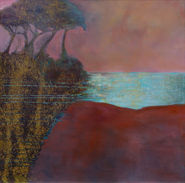 Crossing the River at its Widest Point painting by Julie Moss