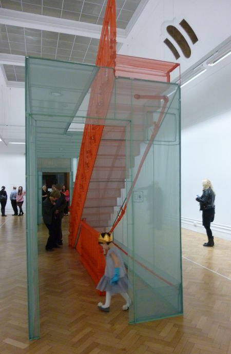 Do Ho Suh fairy daughter in the installation cr Judy Darley