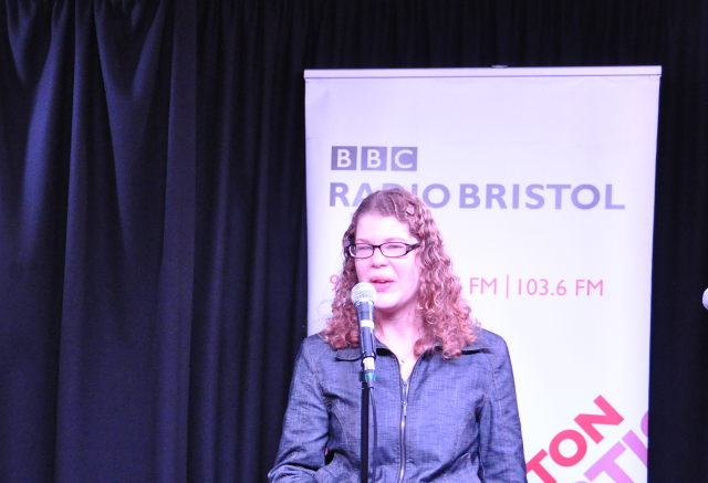 Judy Darley performing for Speech Bubble cr BBC