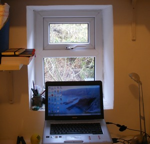 Tara Guha's writing space