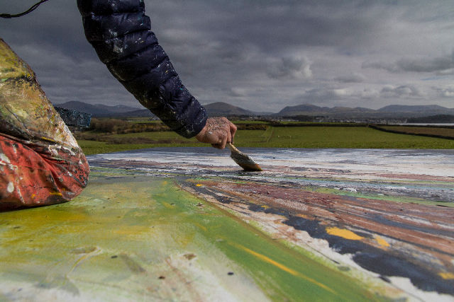 Anthony Garratt painting at Brynsiencyn cr Richard Broomhall