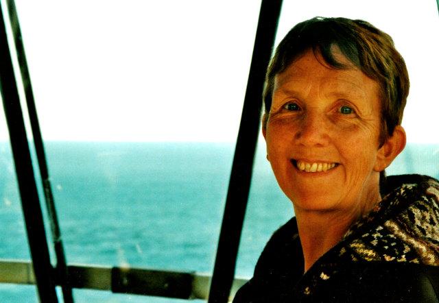 Ann Cleeves at a Shetland lighthouse cr Ann Cleeves-Pan Macmillan