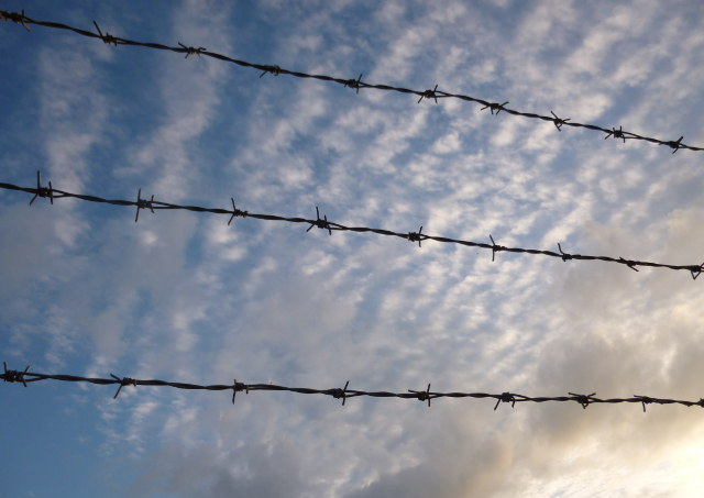 Sky and barbed wire cr Judy Darley