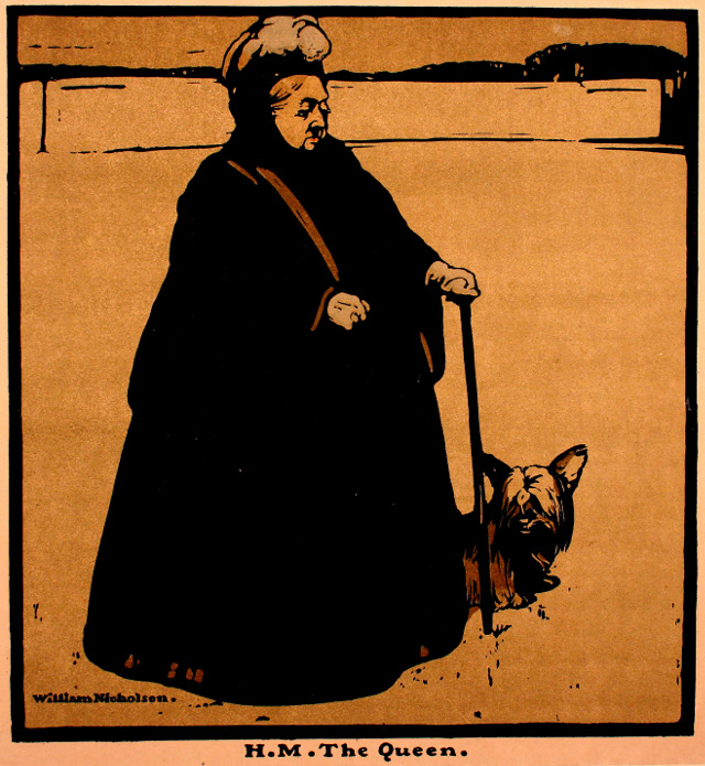 H M the Queen (Victoria), by William Nicholson 1897