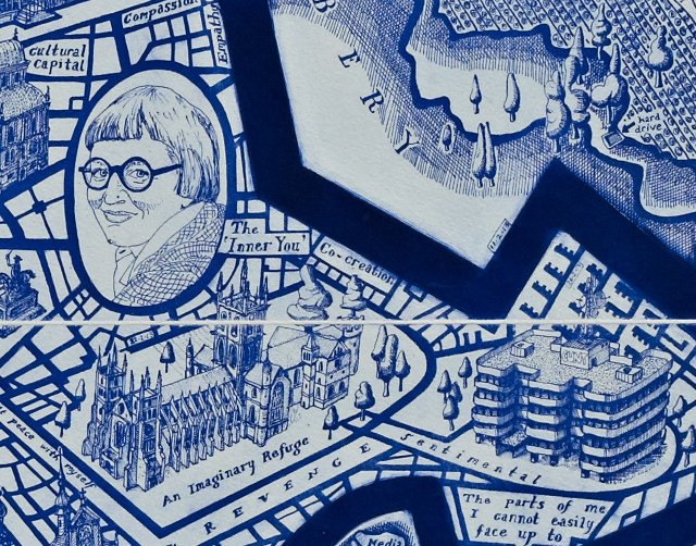 Map of Days by Grayson Perry, etching 2013-detail- cr Grayson Perry and Paragon-Contemporary editions Ltd