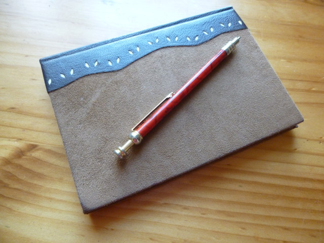 Notebook and pen cr Judy Darley