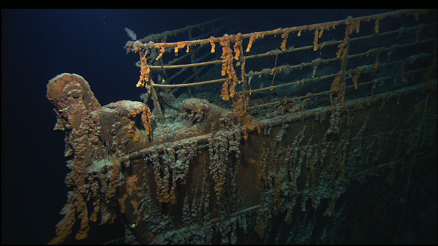 The Titanic wreck cr Dr Robert Ballard