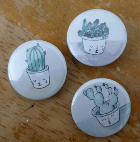 Baby plant pin badges by JR Simpson