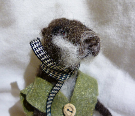 Needle felted Elwood the Otter by JR Simpson