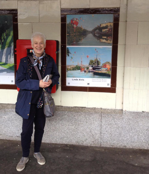 Linda Alvis at Temple Meads Station