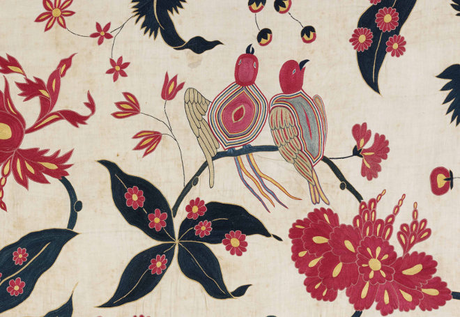 Wallhanging detail ca 1700 © Victoria and Albert Museum