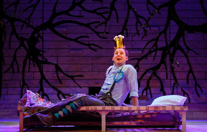 Sleeping Beauty - Bristol Old Vic - David Emmings as Prince Percy Photo by Steve Tanner