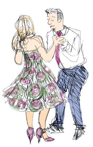 Glassby wedding couple dancing cr Ruth Whiter