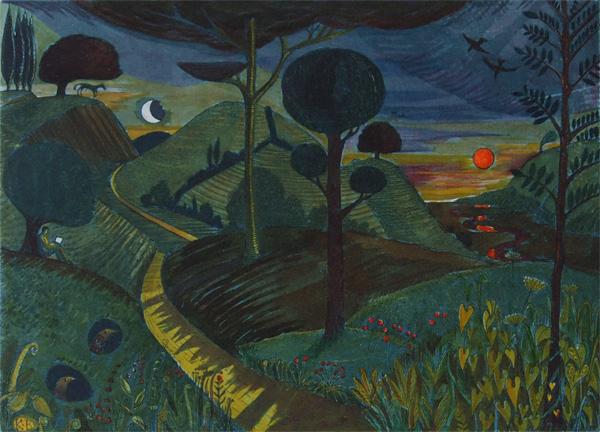 Dusk Return Red Sunset by Kit Boyd