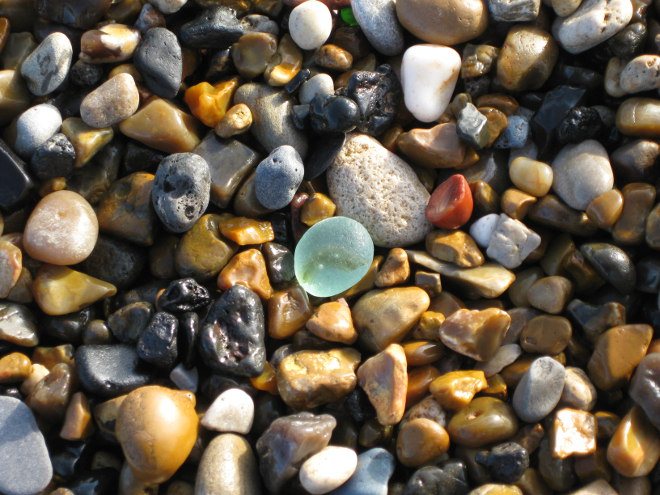 Sea glass at beach cr Glenda Young