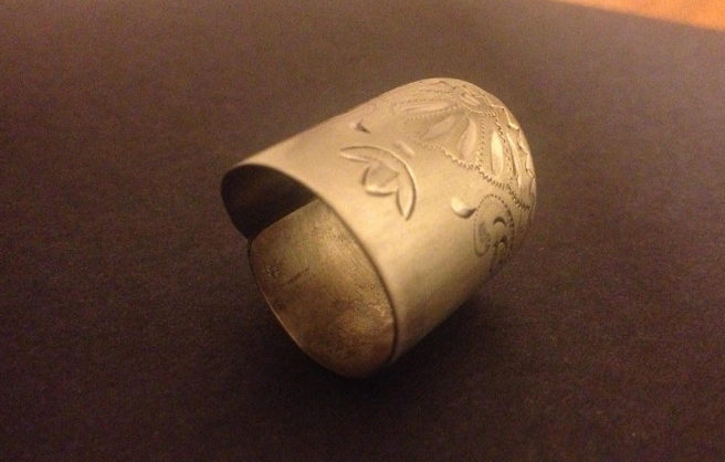 Ring made from antique cutlery by Cher Platt1