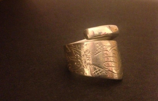 Ring made from antique spoon by Cher Platt