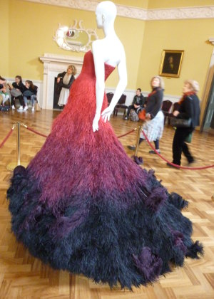 Nicholas Oakwell red feather dress