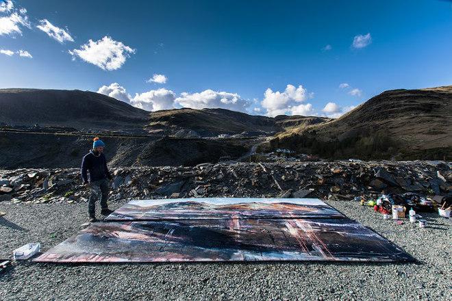 Anthony Garratt High and Low, at Llechwedd slate mine, Snowdonia © Richard Broomhall, Fractured Ether