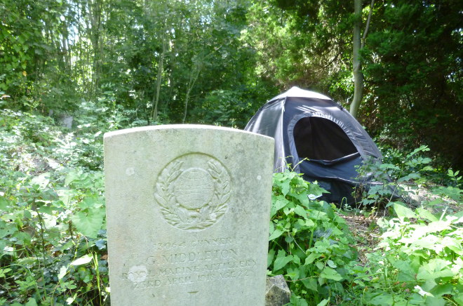 Tent in Arnos Vale Cemetery cr Judy Darley