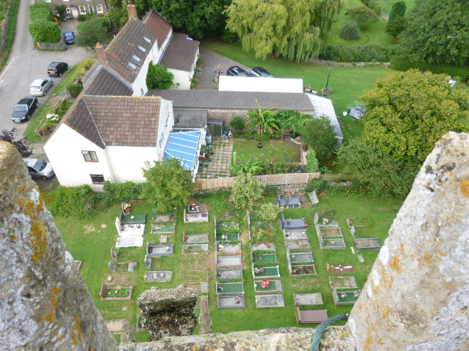 View from St Peter's Church tower, Frampton Cotterell