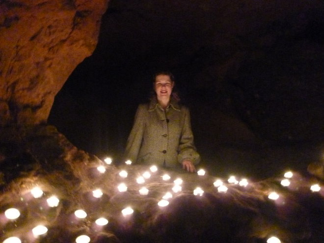 Judy Darley in Redcliffe Caves