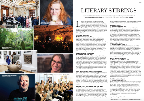 Literary Stirrings feature in The Bristol Magazine